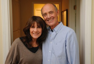 Robin and Robert Jones pictured in a home