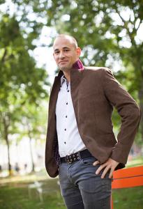 Adam Mestyan in a park