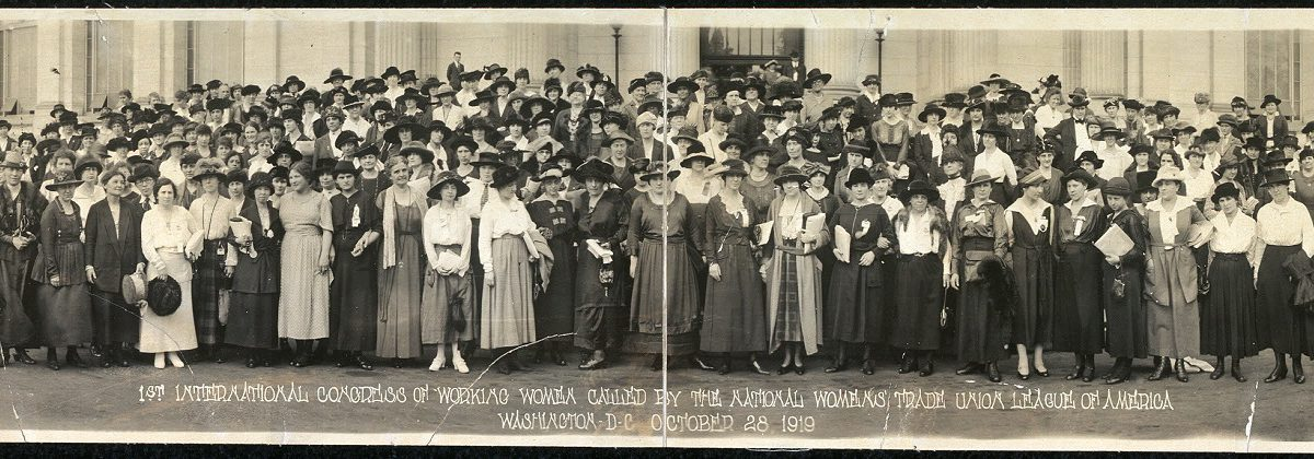 Congress of Working Women black and white group photograph on from October 1919