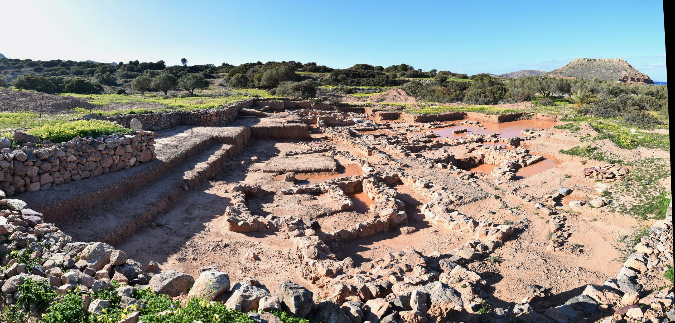 Knappett-Minoan houses ruins at Palaikastro