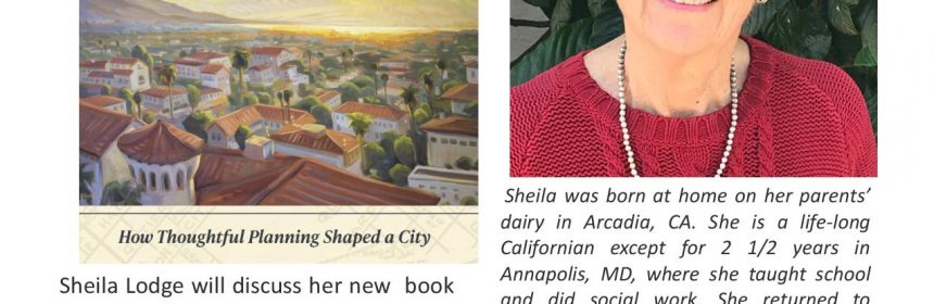 """Flyer for Zoom Talk """"Santa Barbara: An Uncommonplace American Town"""" on 11/15/20 at 4PM"""