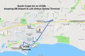 Map of South Coast Inn / Airport / UCSB