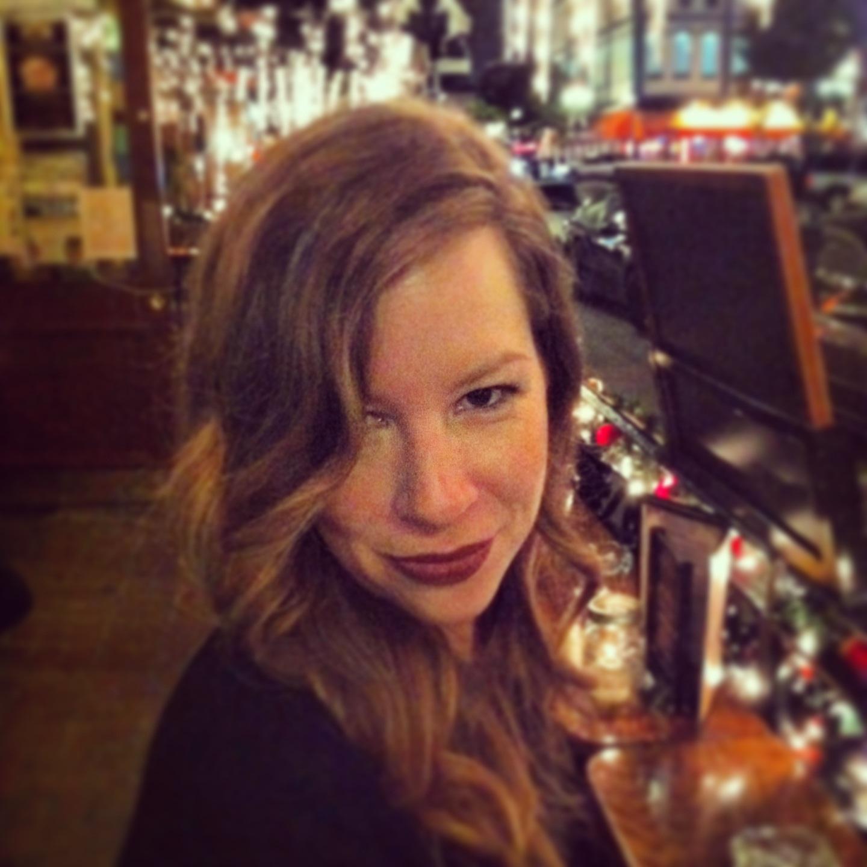 Holly Roose at a bar