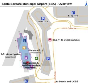 SBA airport schematic map