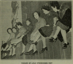 picture of women from the 1937-40 time frame of chinese women boycotting wearing japanese silk stockings