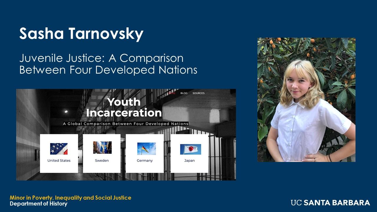 "Slude for Sasha Tarnovsky. ""Juvenile Justice: A Comparison Between Four Developed Nations"""