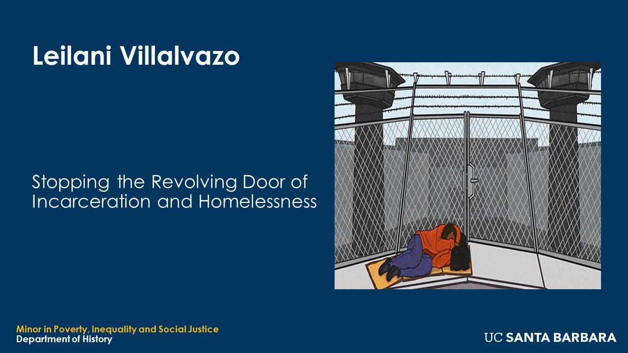 "Slide for Leilani Villalvazo. ""Stopping the Revolving Door of Incarceration and Homelessness"""
