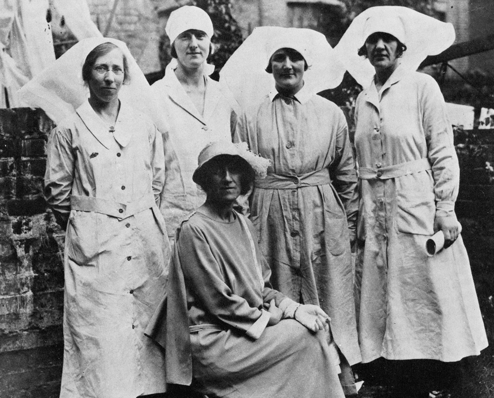Marie Stopes with Clinic Midwives, London, 1921