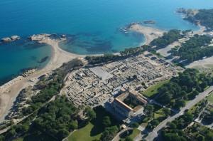 Phokaian trading city, Emporion aerial photograph