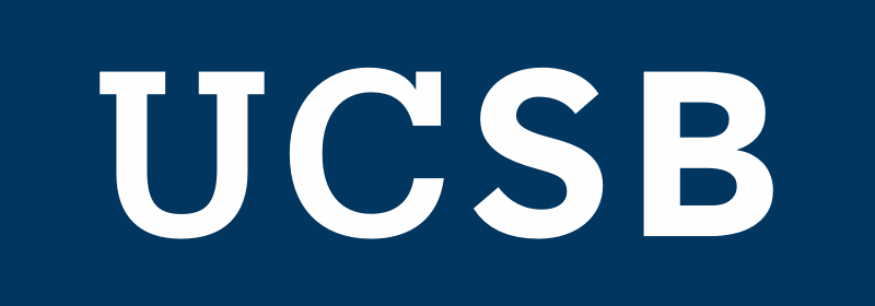 secondary UCSB logo in white with a navy background
