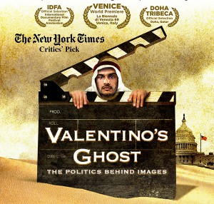 flyer for Film Showing: Valentino's Ghost